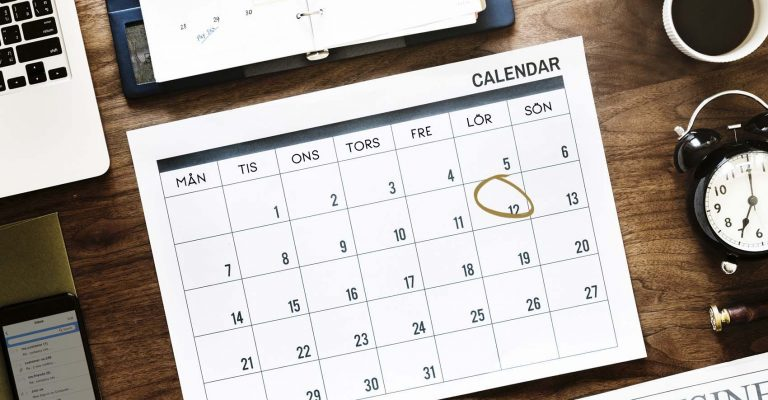 Kalender - resa - boka